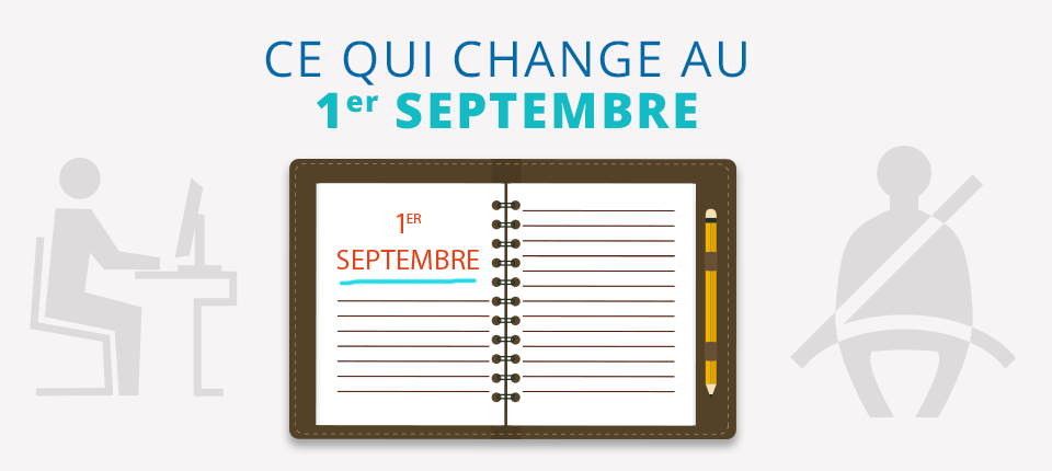 Illustration article ce qui change au 1er septembre