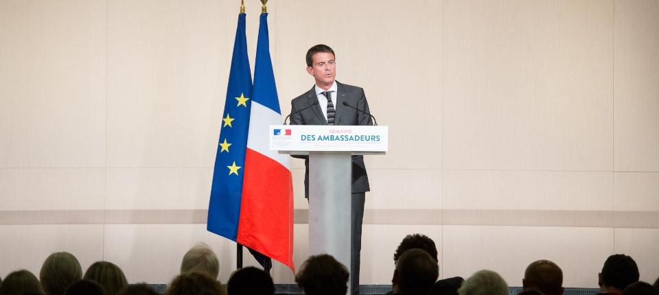 Discours de Manuel Valls devant les ambassadeurs