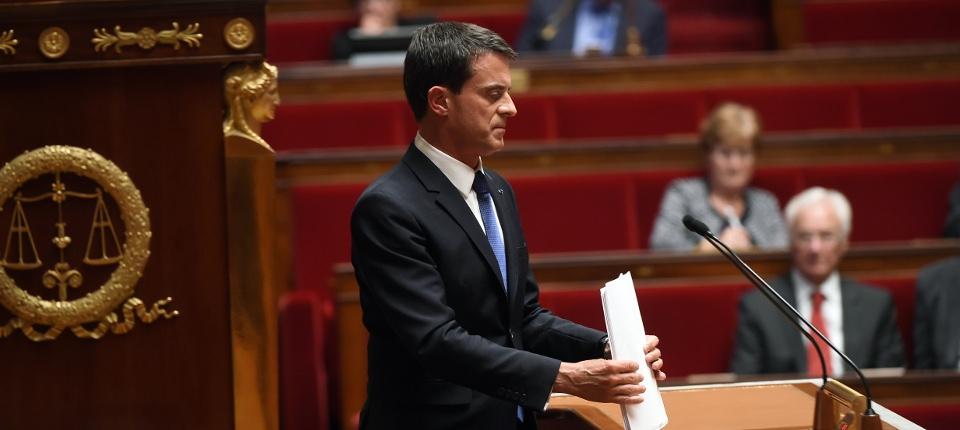 Manuel Valls à l'Assemblée nationale le 16 septembre 2015