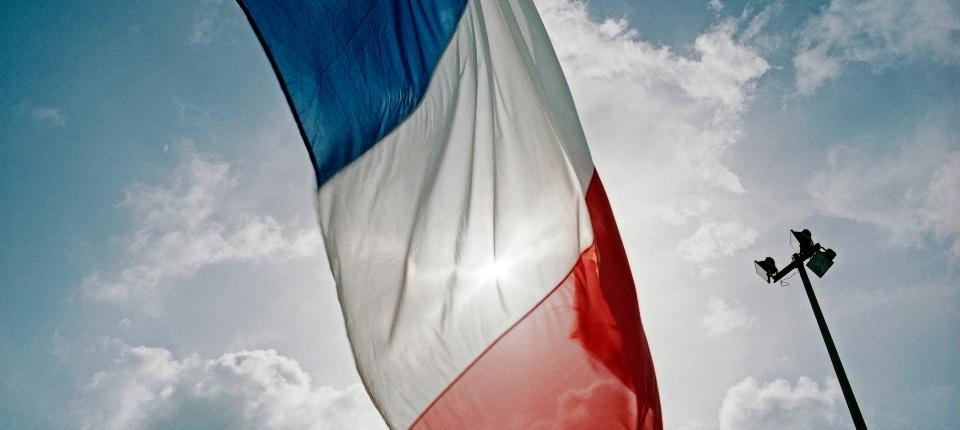 Drapeau national français.