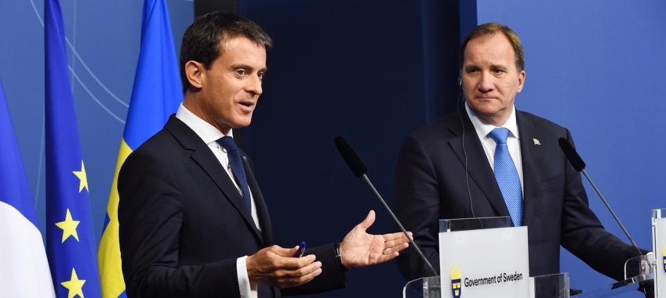 Photo de Manuel Valls et Stefan Löfven