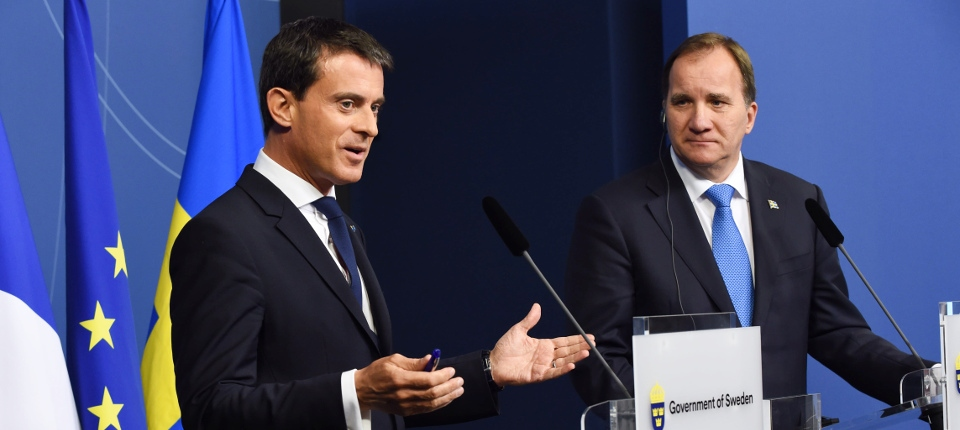 Photo de Manuel Valls et Stefan Löfven
