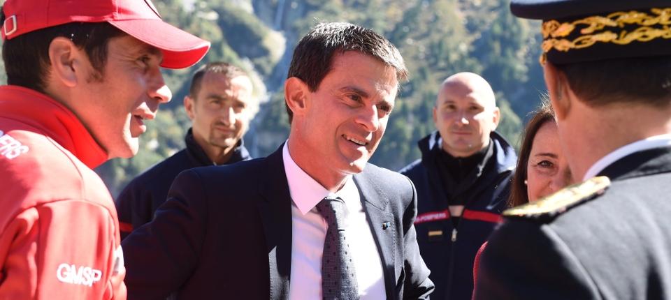 Manuel Valls à Chamonix