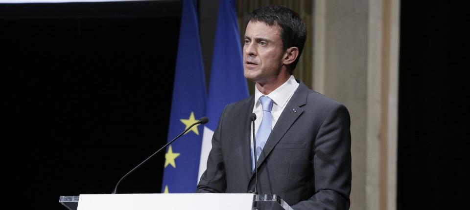 Le Premier ministre lors de son disours sur la laïcité à l'Hôtel de Ville de Paris.