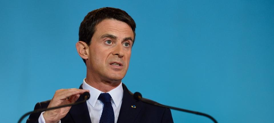 Photo de Manuel Valls à Matignon le 2 octobre 2015.