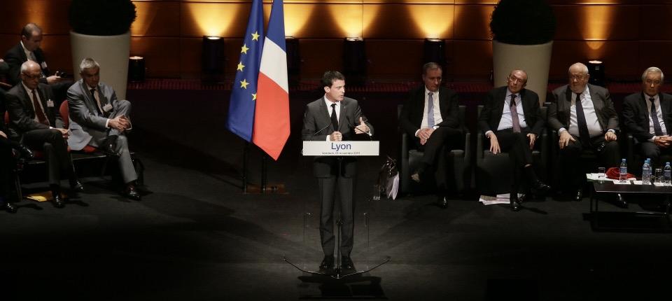 Manuels Valls devant la première assemblée plénière de France urbaine