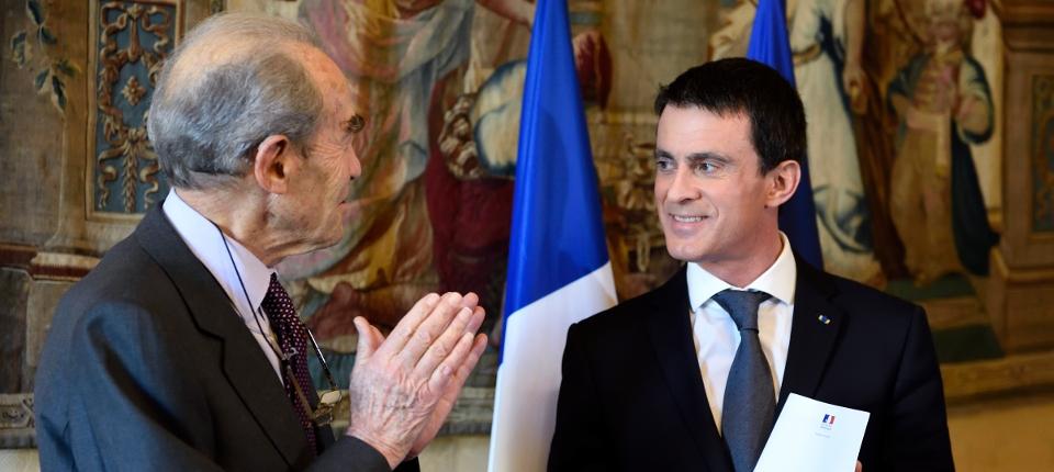 Manuel Valls et Robert Badinter