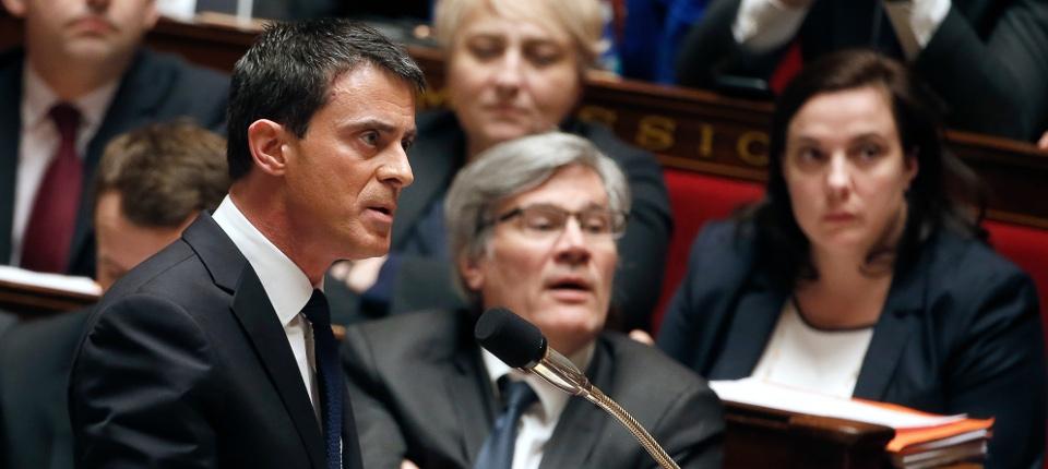 Manuels Valls lors des questions au Gouvernement à l'Assemblée nationale