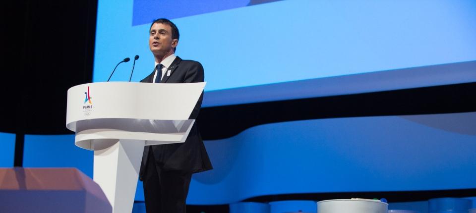 Discours de Manuel Valls lors de la présentation de Paris 2024.