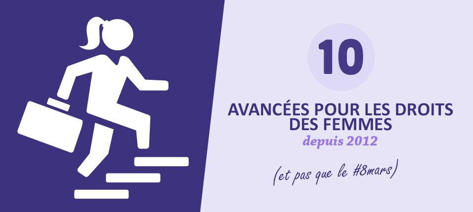 Vignette 10 avancées pour les droits des femmes depuis 2012