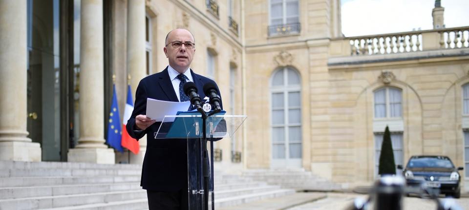Photo de Bernard Cazeneuve à l'Elysée le 22 mars 2016