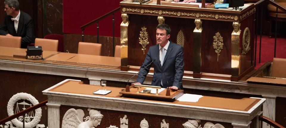 Manuel Valls à la tribune de l'Assemblée nationale, le 19 juillet 2016