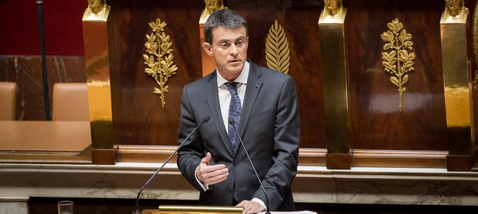 Manuel Valls devant l'Assemblée nationale, le 19 octobre 2016