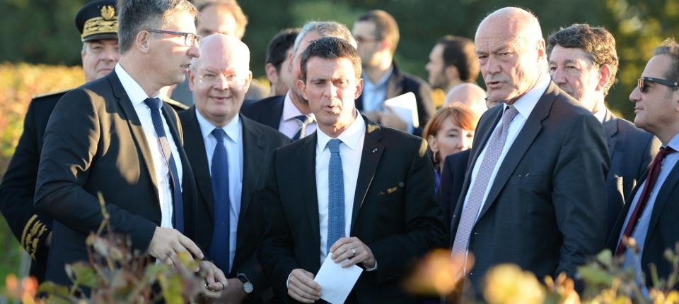 Manuel Valls en déplacement en Gironde