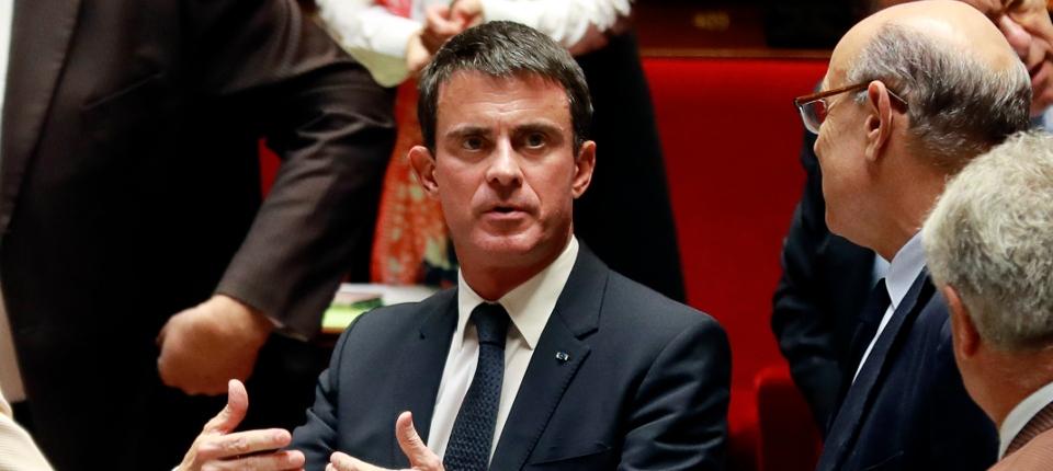 Manuel Valls lors de la séance des Questions au Gouvernent à l'Assemblée nationale, le 11 octobre