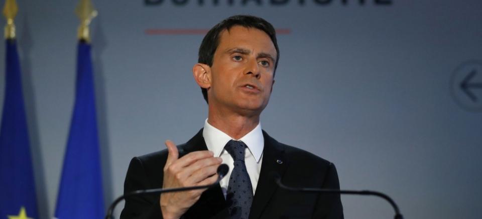 Manuel Valls lors de la présentation de la nouvelle campagne de lutte contre la radicalisation #ToujoursLeChoixa