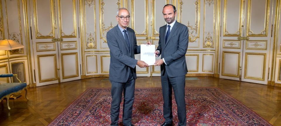 Edouard Philippe et Jean Pisani-Ferry et le Grand plan d'investissement