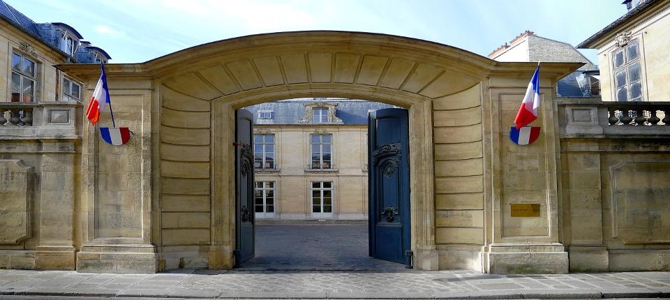Hôtel de Broglie. Rue Saint Dominique à Paris