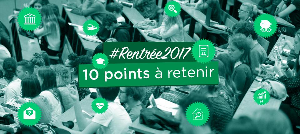 Dix points à retenir sur la rentrée universitaire 2017-2018