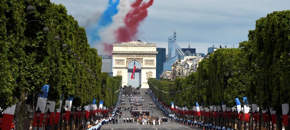 Défilé militaire du 14 juillet sur les Champs-Élysée