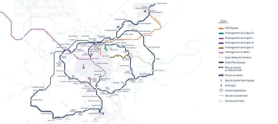 1b78a2b946a50 Grand Paris Express : les nouvelles lignes de métro et RER pour les  Franciliens | Gouvernement.fr