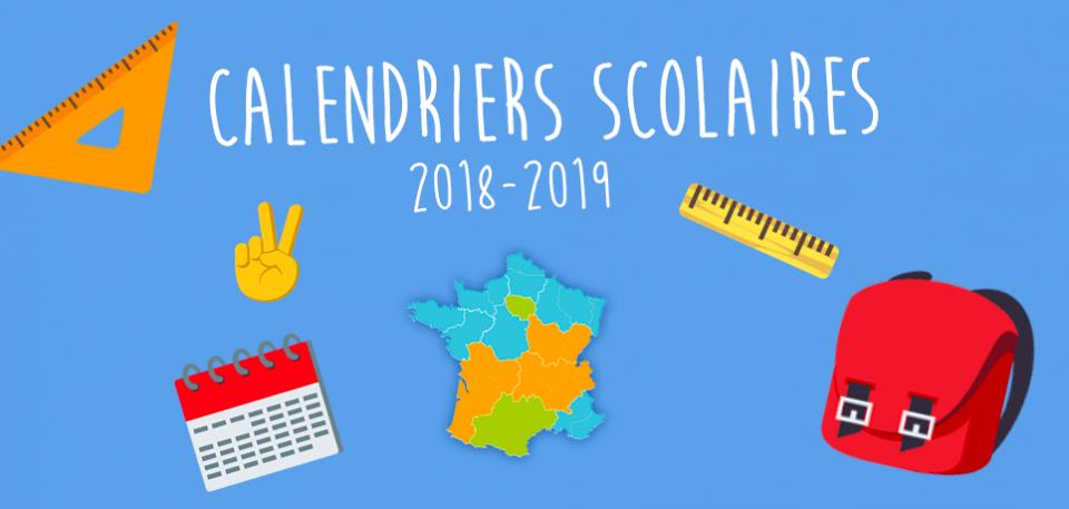 Vignette infographie les calendriers scolaires 2018-2019