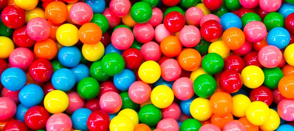 Bonbons ronds de toutes les couleurs