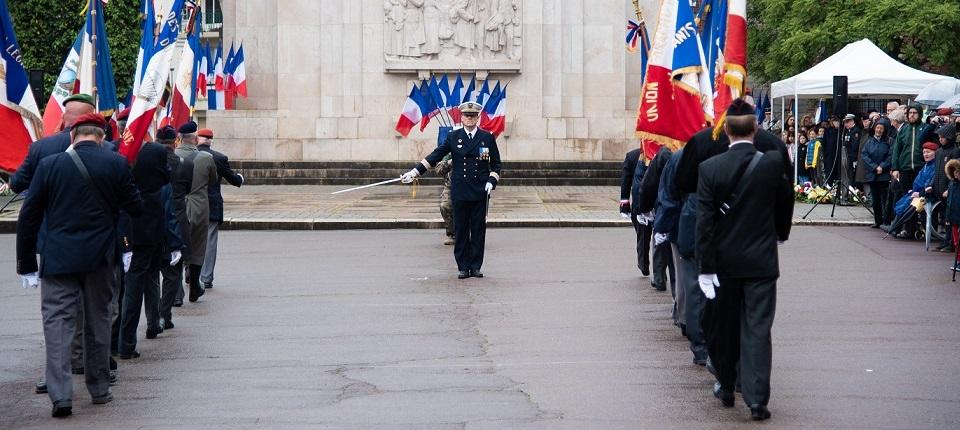 Cérémonie  d'hommage au 8 mai 1945 à Lille