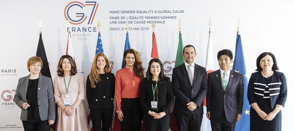 Les participants au G7 Egalité