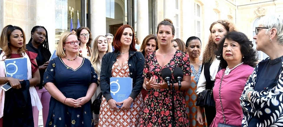 Marlène Schiappa et des participantes du G7
