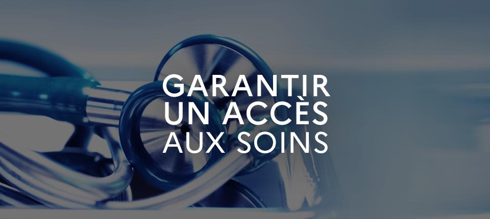 Garantir un accès aux soins