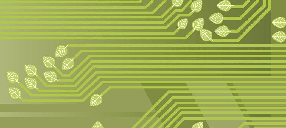 Illustration de technologie verte