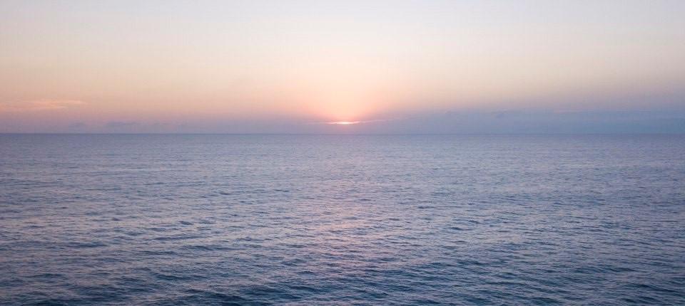 Aurore sur la mer