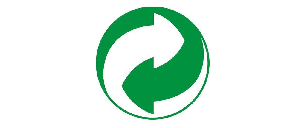 Schéma de recyclage vert et blanc