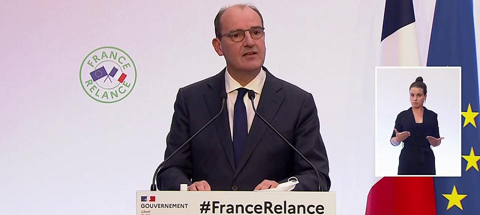 Jean Castex présentant le plan France Relance