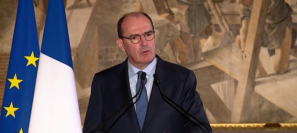 Jean Castex à la tribune de la mairie de Toulouse