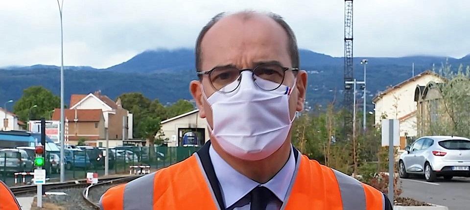 Jean Castex au technicentre SNCF du Br�zet, � Clermont Ferrand (Puy-de-D�me)