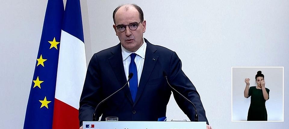 Le Premier ministre Jean Castex à la tribune