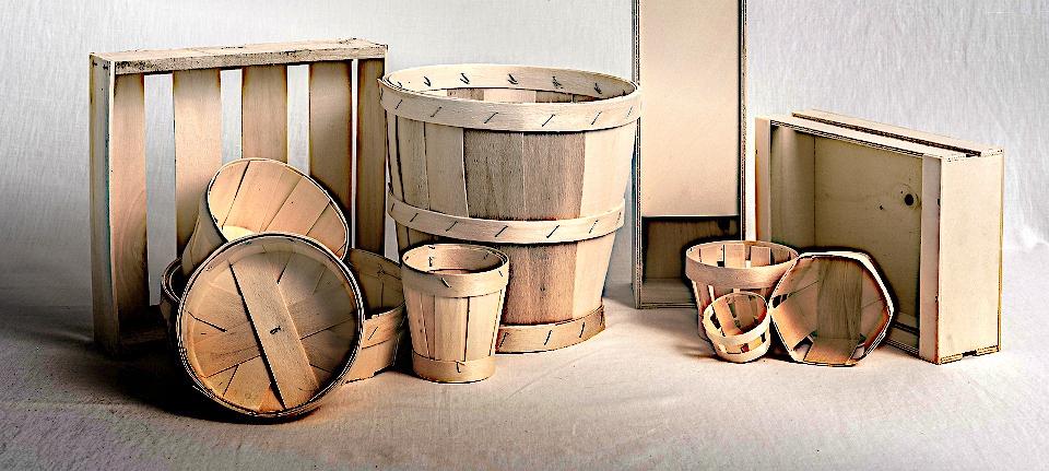 Emballages de produits agoalimentaire fait en bois