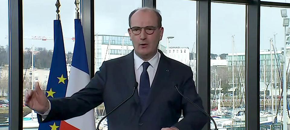 Le Premier ministre à la tribune- CIMER 2021 - Le Havre