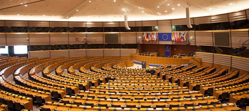 L'intérieur du Parlement européen