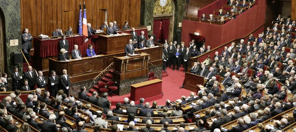 Le président de la République François Hollande devant le Congrès à Versailles