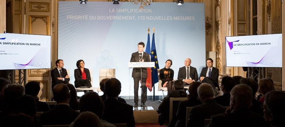 Discours de Manuel Valls à la présentation des 170 nouvelles mesures de simplification en faveur du développement économique et de l'emploi, à Matignon