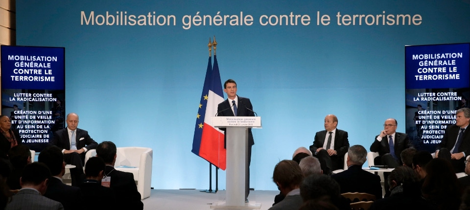 French Rime Minister at the anti-terrorism meeting