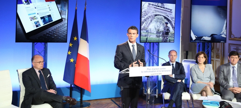 French PM speaking