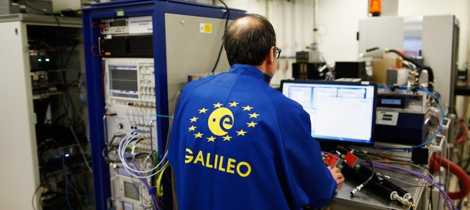 Galileo satellite staff