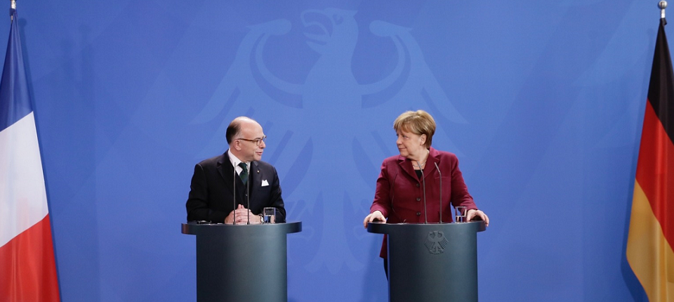 Bernard Cazeneuve and Anglela Merkel