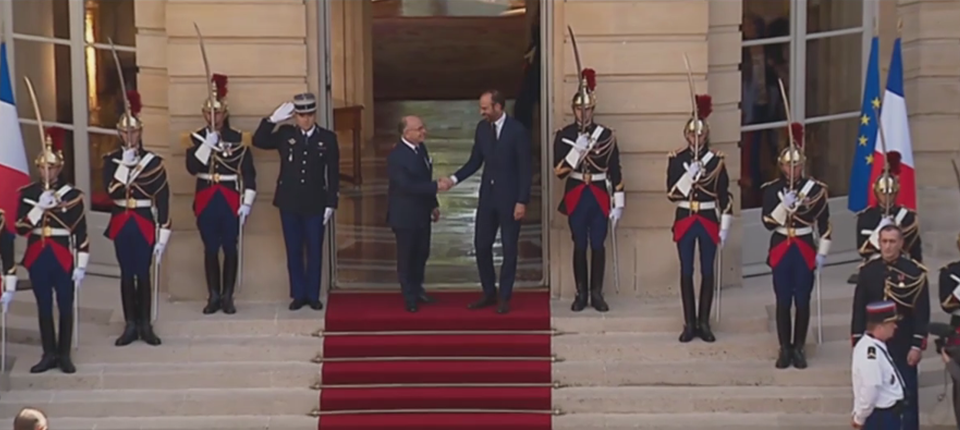 Bernard Cazeneuve and new PM Edouard Philippe