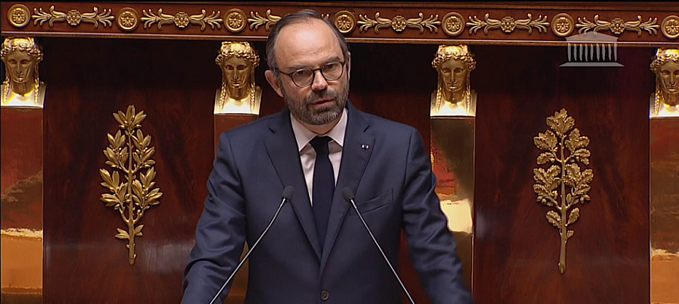 French PM at the National Assembly during his speech on the military intervention in Syria