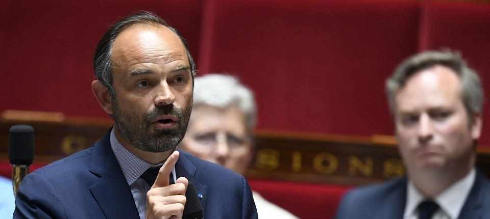 Edouard Philippe speaking before MPs